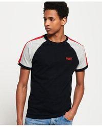 Superdry Organic Cotton Racer Cut & Sew Ringer T-shirt - Black
