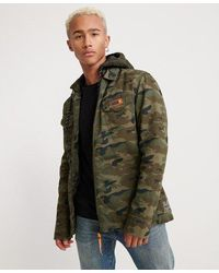 Superdry Icon Military Storm Hooded Shirt - Green