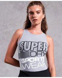 Superdry Body Street Sport Diagonal - Gris