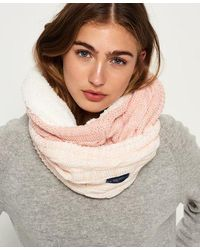 Superdry Ombre Clarrie Snood - Pink