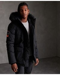Superdry Everest Parka Jacket - Black