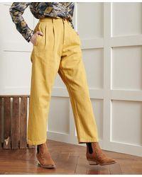 Superdry DRY Pantalon plissé Dry en Édition Limitée - Jaune