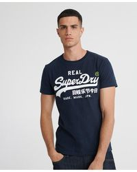 Superdry Vintage Logo T-shirt - Blue