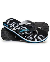 Superdry Scuba Perforated Flip Flops - Black