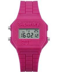 Superdry - Mini Retro Digi Colour Block Watch - Lyst
