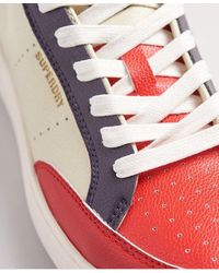Superdry Vegan Basket Lux Low Sneakers - Red