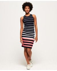Superdry Sports Luxe Midi Dress - Blue