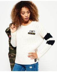 Superdry Varsity Slouch Knit Sweater - Multicolor