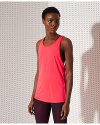 Superdry Sport Training Strappy Tank Top - Red