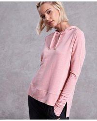 Superdry Active Studio Luxe Hoodie - Pink