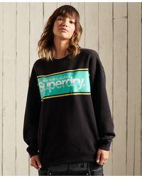 Superdry Sweat ras-du-cou oversize à logo Core - Noir