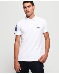 Mens Classic Cali Surf Polo Shirt in Optic White | Superdry