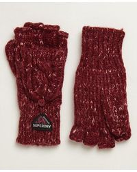 Superdry Gracie Cable Gloves - Red