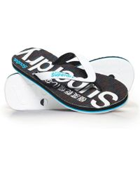 065cb4a1d Superdry Bondi Thong Sandals in White - Lyst