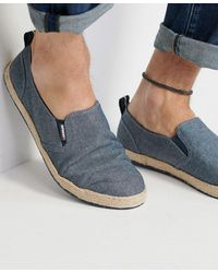 Superdry Hybrid Slip On Classic Espadrilles - Blue