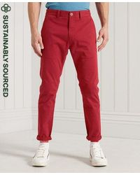 Superdry - Organic Cotton Core Slim Chino Trousers - Lyst