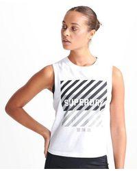 Superdry Sport Women's Training Core Sport Women's Tank Top - White