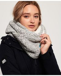 Superdry Clarrie Stitch Snood - Gray