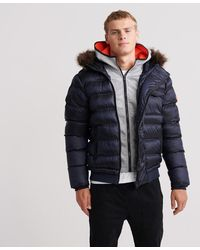 Superdry Icon Rescue Pufferjas - Blauw