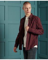 Superdry London Klassiek Buttondownoverhemd - Rood