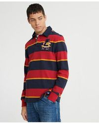 Superdry Academy Rugby Shirt - Red