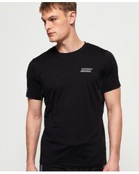 Superdry Active Loose Diagonal Logo T-shirt - Black
