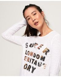 Superdry Aisha Sequin Top - White