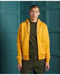 Superdry Orange Label Classic Zip Hoodie - Yellow