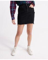 Superdry Denim Mini Skirt - Black