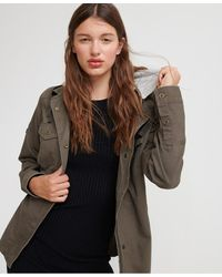 Superdry Raven Military Shirt Jacket - Green
