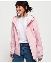 Superdry Harpa Waterproof Jacket - Pink