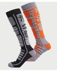 Superdry Sport Pack de dos pares de calcetines de lana merina - Gris