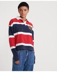 Superdry Camisa de Rugby Melina - Rojo