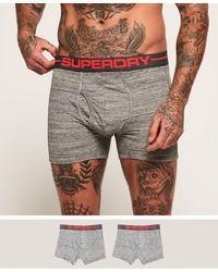 Superdry Boxers Sport Boxer Double Pack - Grijs