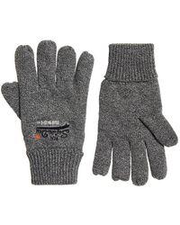 Superdry Orange Label Gloves - Gray