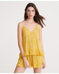 Superdry Summer Lace Cami Top - Yellow