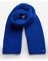 Superdry Super Chunky Scarf - Blue