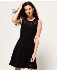 Superdry Ivy Lace Skater Dress - Black
