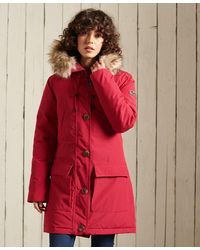 Superdry Rookie Donsparka - Rood