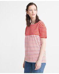 Superdry Breton Stripe T-shirt - Red
