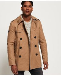 Superdry Remastered Rogue Trench Coat - Brown