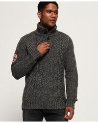 Superdry - Montana Cable Henley Jumper - Lyst