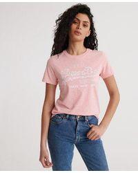 Superdry Vintage Logo Floral Infill T-shirt - Pink