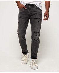 Superdry Conor Taper Jeans - Black