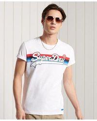Superdry - Vintage Logo Cali Stripe T-shirt - Lyst