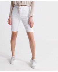 Superdry Kari Long Line Shorts - White