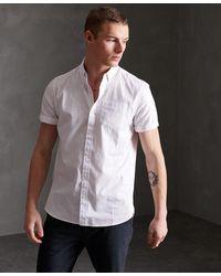 Superdry Premium University Oxford Overhemd Met Korte Mouwen - Wit