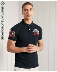 Superdry Polo Classic Superstate - Bleu