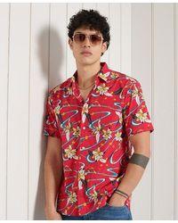 Superdry Hawaiian Box Fit Shirt - Red