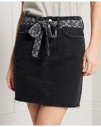 Superdry - Denim Mini Skirt - Lyst